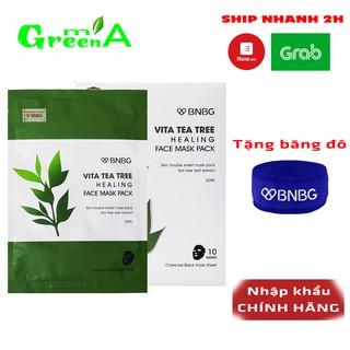 Mặt Nạ Tràm Trà BNBG Vita Tea Tree Healing Face Mask Pack Giảm Mụn Thâm Sẹo Thải Độc Da [NHẬP KHẨU CHÍNH HÃNG]