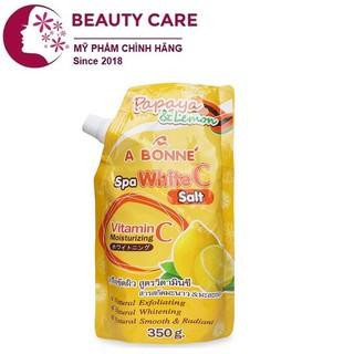 Muối tắm Vitamin C vị đu đủ & chanh, A Bonne Spa White C Salt, Thái Lan 350gr thumbnail