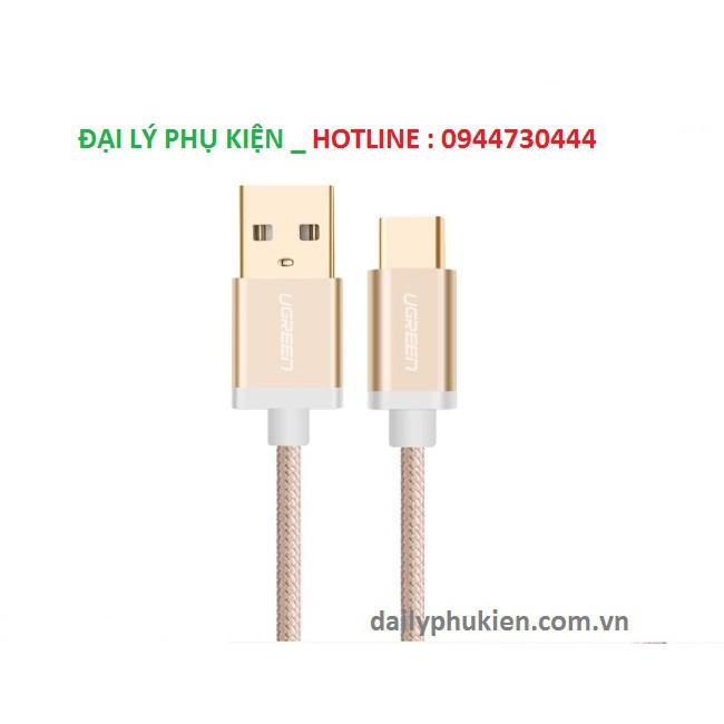 Cáp USB-C to USB 2.0 dài 0,5m màu Gold Ugreen 20859