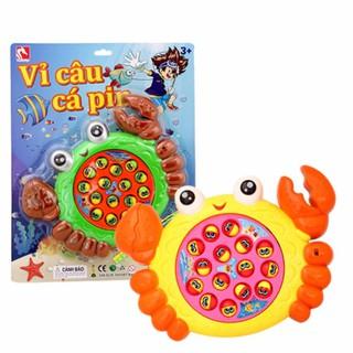 Vỉ đồ chơi câu cá 15 cá hình cá dùng pin