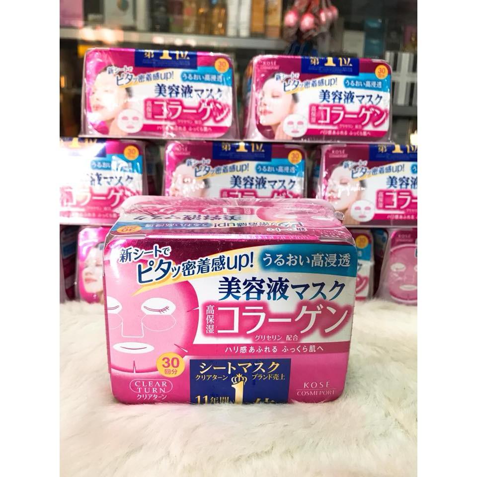 (30 miếng) MẶT NẠ KOSE CLEAR TURN MASK SHEET ( MÀU HỒNG ) chính hãng Nhật