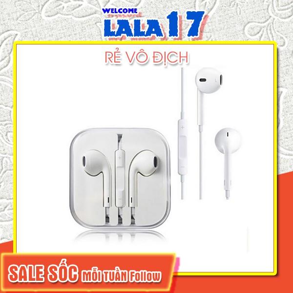 Tai nghe iphone Tai Nghe Nhét Tai 3.5mm Giá Rẻ chân jack 5/5s/6/6s/plus Xiaomi Samsung oppo logo táo - Lala17