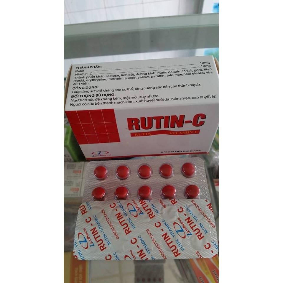 Thuốc Rutin C bổ sung vitamin C