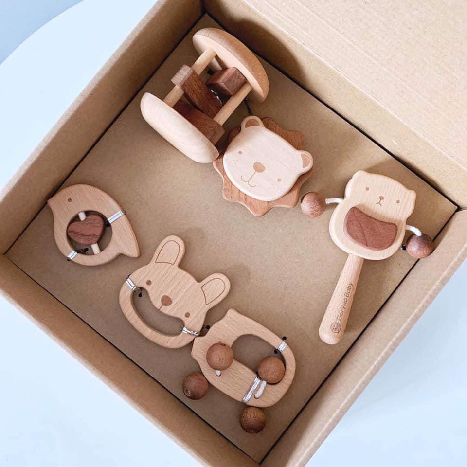 Hộp xúc xắc gỗ Goryeo Baby