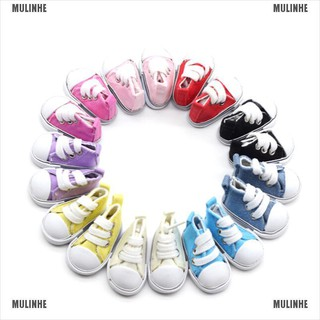 5cm Doll Shoes Denim Canvas Toy Shoes1/6 Bjd For Russian Doll Sneackers [MULINHE]