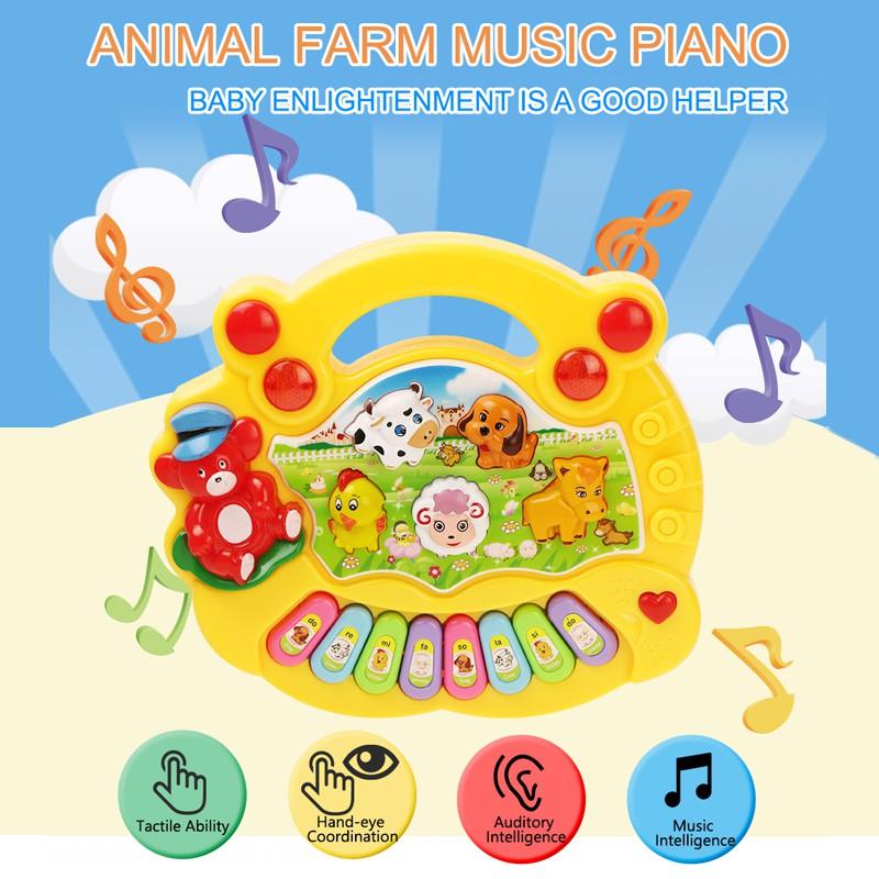 Đàn piano hình động vật đáng yêu cho bé
