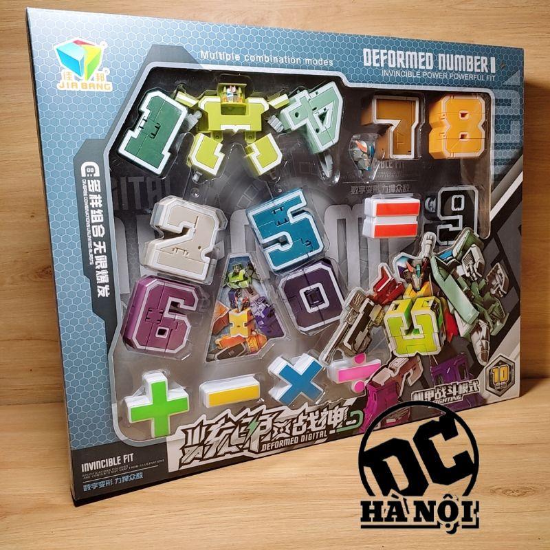 Đồ chơi lắp ghép bộ chữ số biến hình từ 0 1 2 3 4 5 6 7 8 9 thành robot kèm phép tính dạy con học