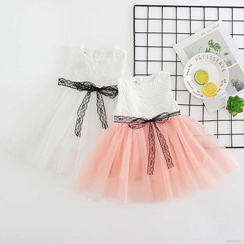 Đầm xoè Tutu hoạ tiết hoa thêu phối ren cho bé gái
