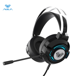 Tai nghe AULA S602 âm thanh vòm 7.1 siêu nhẹ thiết kế đèn 7 màu độc đáo thumbnail