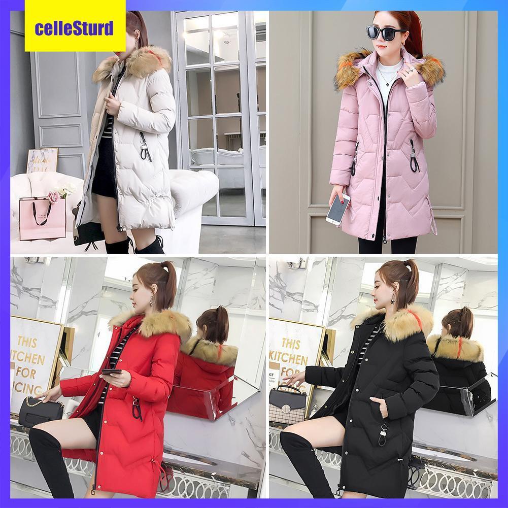 Áo khoác nữ cổ lông dày thời trang mùa đông