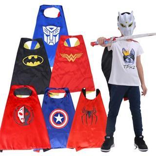 ღBLIღ 1Pc Kid Cartoons Superman Batman Halloween Costumes Baby Superhero Cloak [FS]