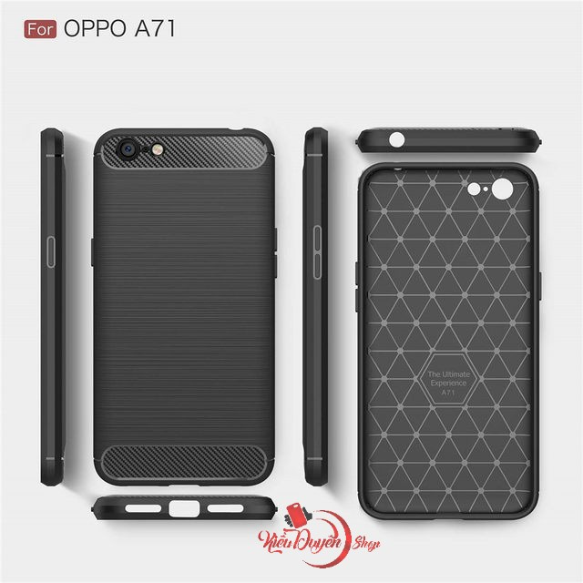 Ốp lưng Oppo A71 chống sốc vân carbon