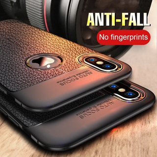 Vỏ bọc da PU chống va đập sang trọng Thiếu nhãn cho iPhone 7 8 6 6s Plus Ốp lưng cho iPhone X XS Max XR Slicone Soft Case
