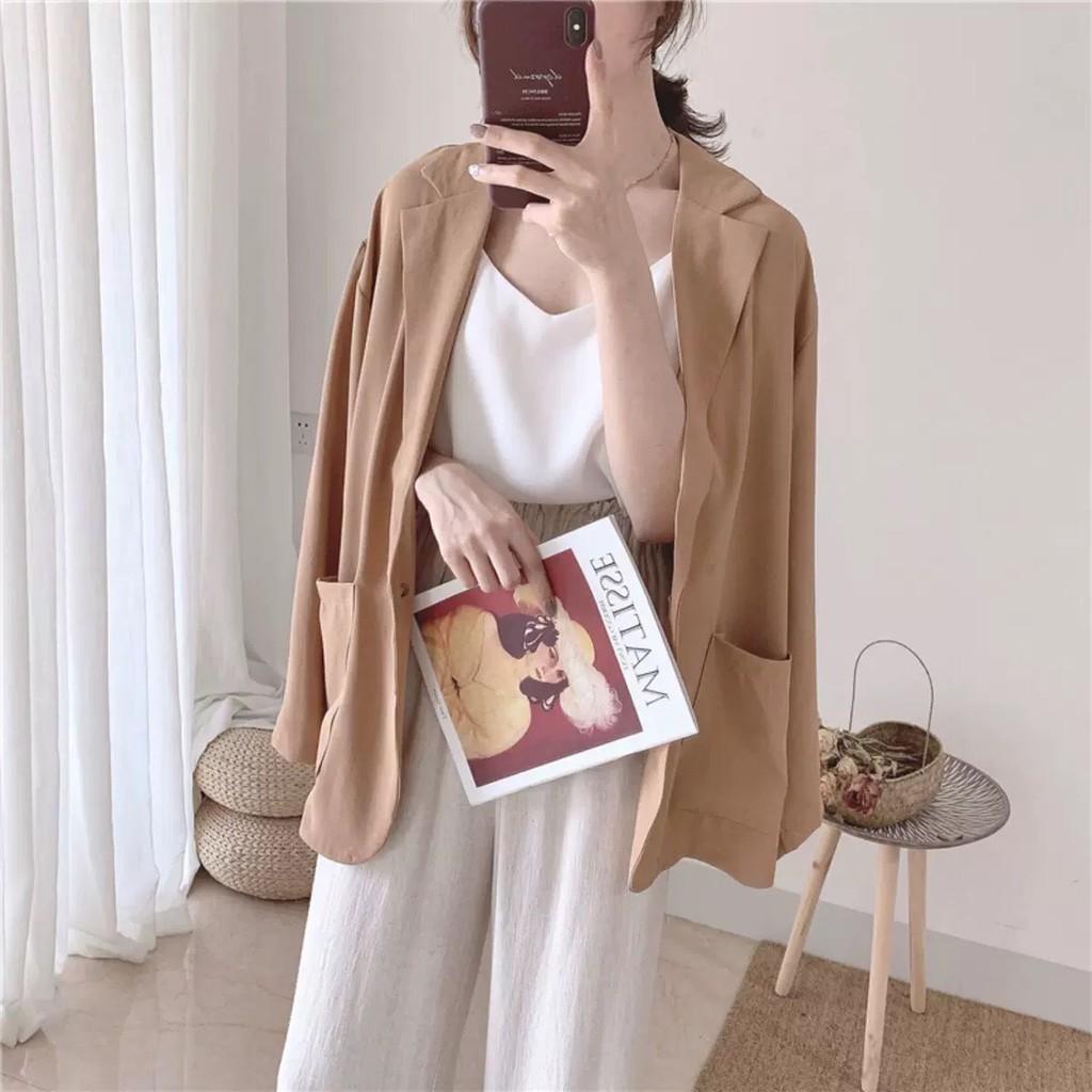 [Free ship đơn từ 50k] Áo khoác vest blaze nữ kiểu dáng hàn quốc SIÊU ĐẸP