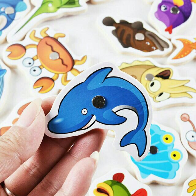 [RẺ NHẤT HÀ NỘI] Bộ câu cá gỗ 32 sinh vật biển - CHẤT LƯỢNG CAO
