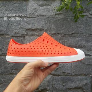 Giày nhựa đi mưa nam nữ - Chất liệu nhựa xốp siêu nhẹ - Màu cam thumbnail