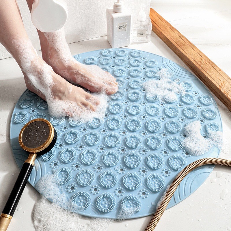 Tấm lót nhà tắm, thảm nhà tắm chống trơn trượt dạng tròn (KT 55x55cm)