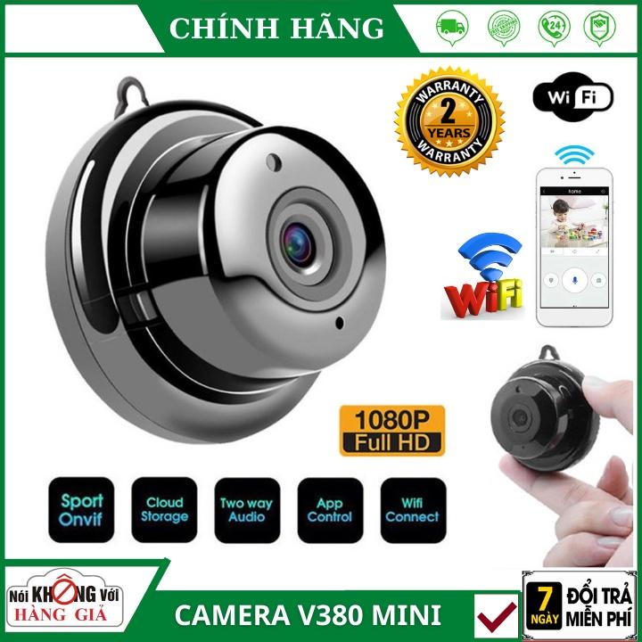 Camera mini wifi IP V380 Full HD 💥 FREESHIP 💥 giám sát, anh ninh không dây kết nối với điện thoại, có hồng ngoạ