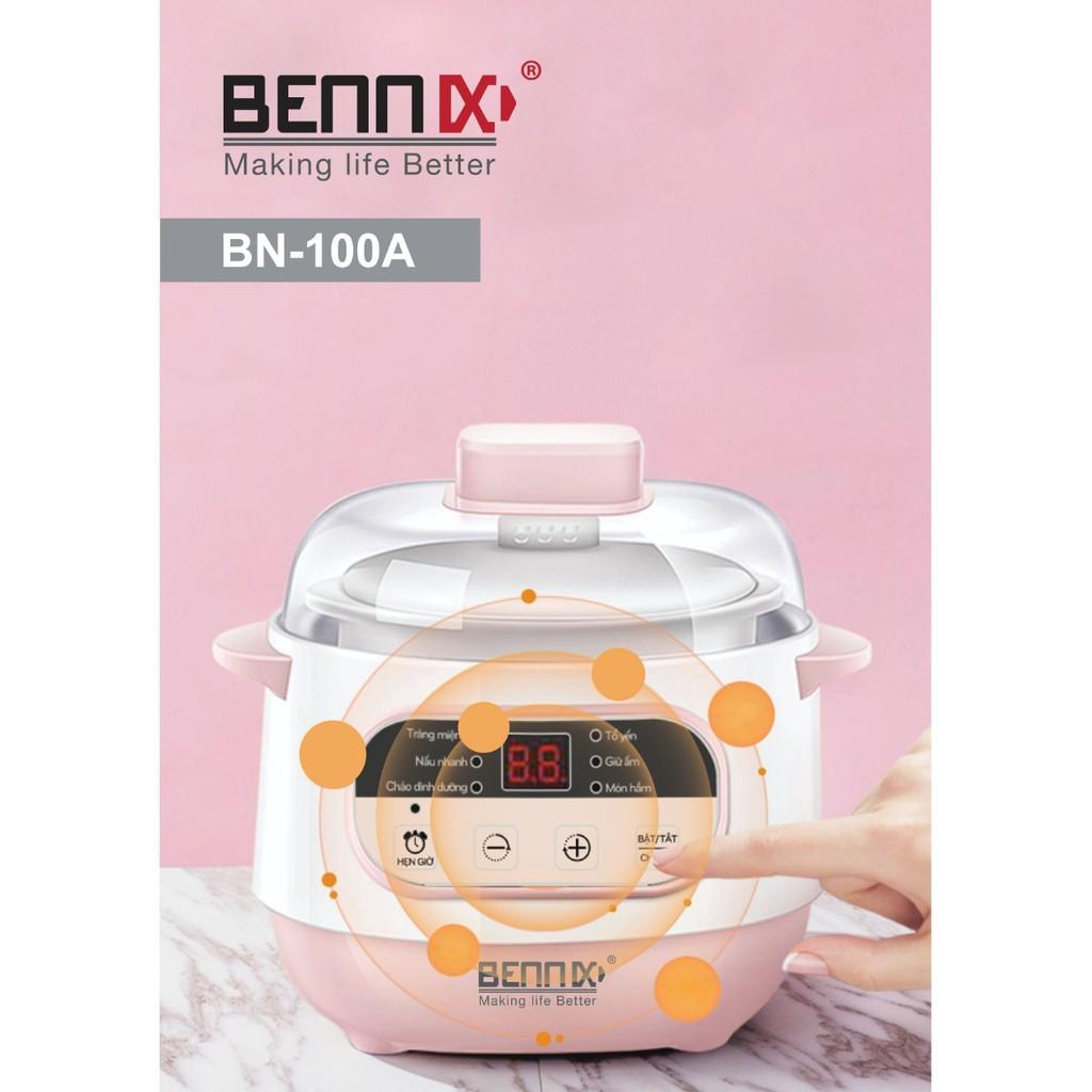 Nồi nấu cháo hầm cách thủy cho bé BENNIX A100, Bảo hành 12 tháng