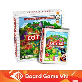 Combo Tỷ Phú: Bài Tỷ phú và Cờ Tỷ Phú Việt Nam BoardgameVN