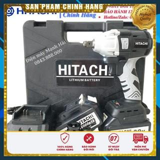 Máy siết bulong dùng pin không chổi than Hitachi 99v PIN khủng 10 Cell – Tặng kèm 1 đầu chuyển bắt vít – Chính hãng