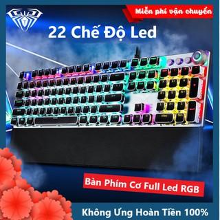 Bàn Phím Cơ Chơi Game FZ508 Pro Full Size 104 Phím Led RGB Nhiều Chế Độ Cực Đẹp Kèm Kê Tay, Dùng Cho Máy Tính PC Gaming thumbnail