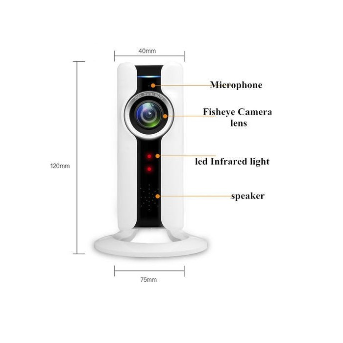 Camera Wifi ip VR 180 độ chính hãng WinTech WTC-IP304