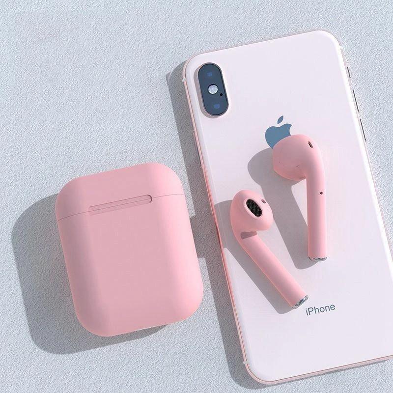 Tai nghe Inpod i12 TWS Bluetooth 5.0 cho iPhone và Android kèm Hộp sạc - Hàng nhập khẩu- Màu Hồng Pink