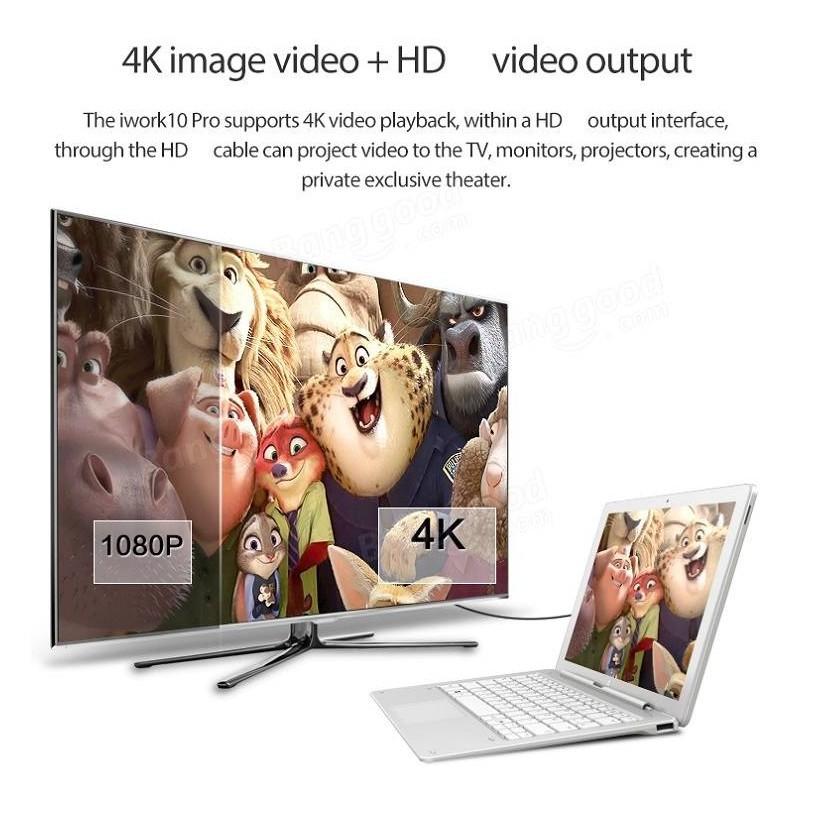 Máy tính bảng IWork10 Pro Intel Cherry 4G 64Gb (Dual Win 10/Android) + Tặng kèm dock bàn phím - Home and Garden
