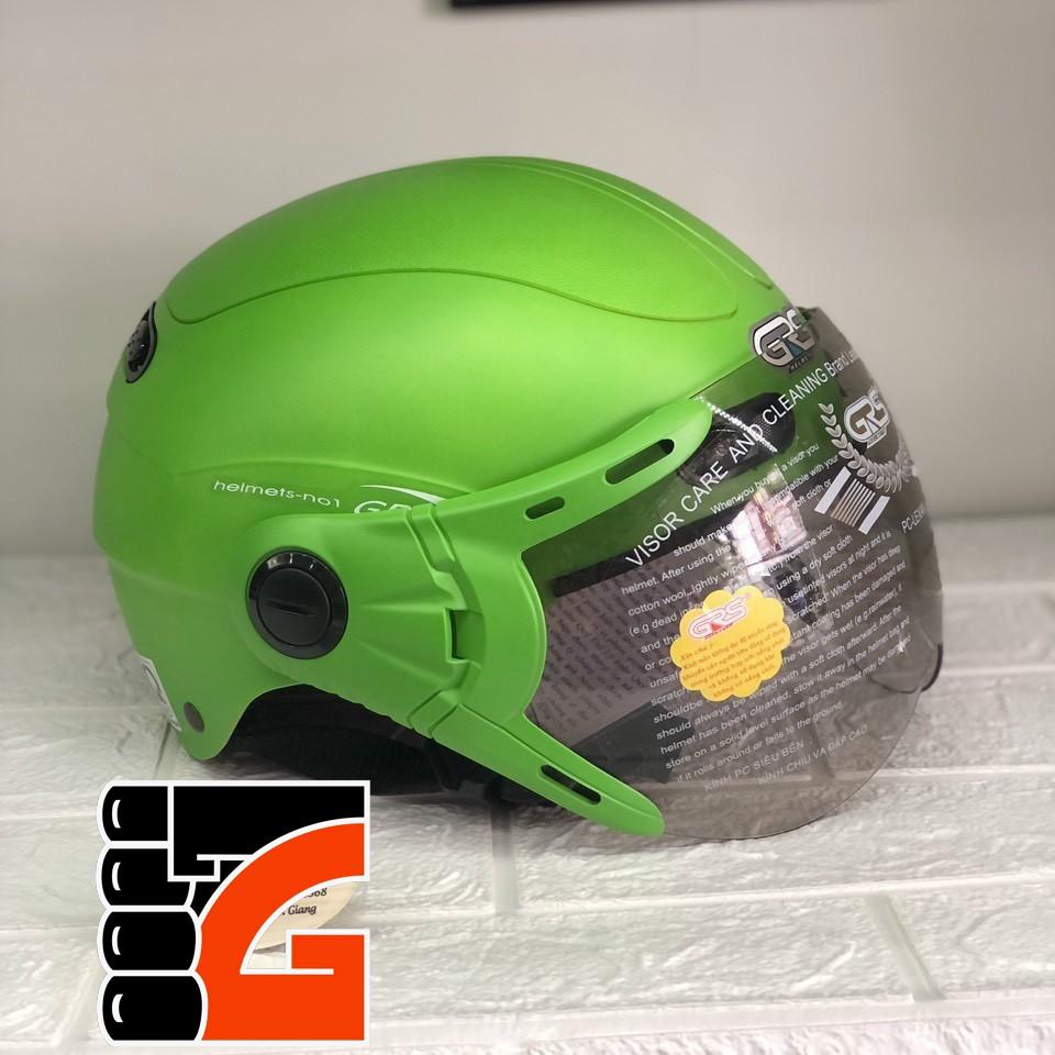 CHÍNH HÃNG GRS - Mũ bảo hiểm nửa đầu GRS A102K có kính
