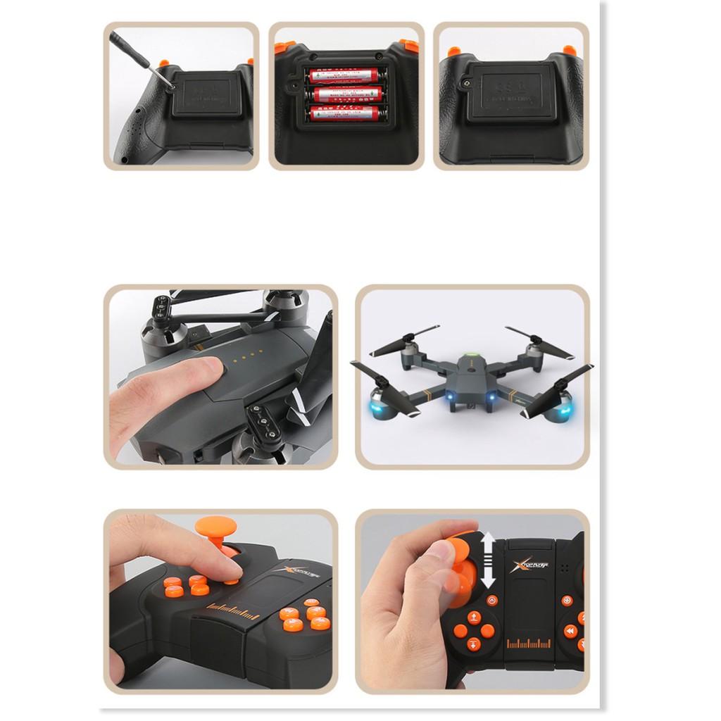 Flycam XT-1 ✓chính hãng✔️ Kết nối Wifi 2.4 GHz quay phim, chụp ảnh Full HD  720P, Chống rung. - Máy Bay Camera - Drone