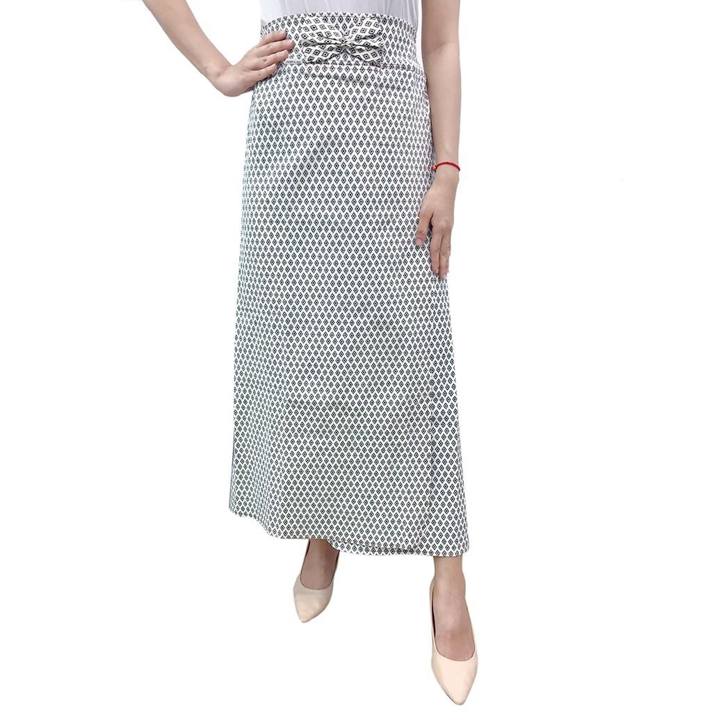 [được chọn mẫu] Váy chống nắng freeSize kaki xẻ tà cao cấp bao chất bao giá VKXT0023