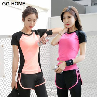 Yoga clothing sportswear suit female summer gym running quick-drying clothes professional fitness two-piece