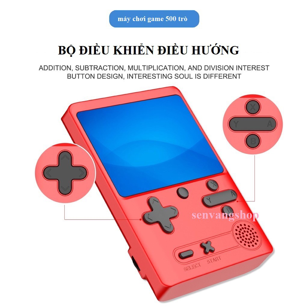 """Máy game cầm tay M6- tích hợp sẵn 500 trò chơi NES - 8 Bít - 3""""TFT Classic  - Phiên bản 2021 - Tay cầm cho 2 người chơi giá cạnh tranh"""