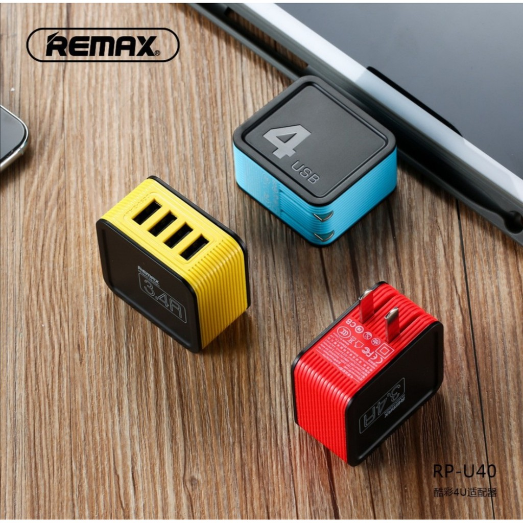 Remax Proda Kutry แท้💯Adapter 4 USB Port 3.4A Fast.