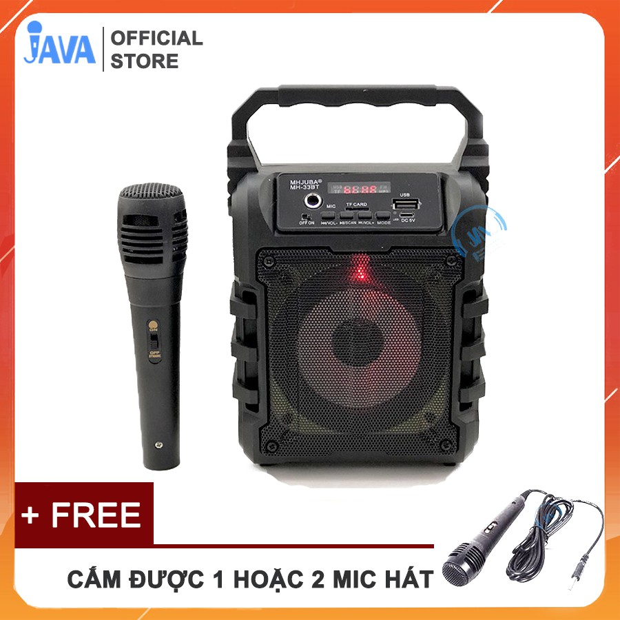 [TẶNG 1 HOẶC 2 MIC KARAOKE CÓ VANG 100K] Loa Kẹo Kéo Karaoke Bluetooth Mini - Loabluetooth