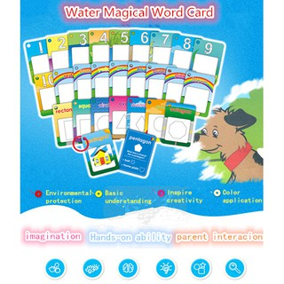 Number/26 English Learning Doodle Cards Magic Water Drawing Painting Board For Education Toy