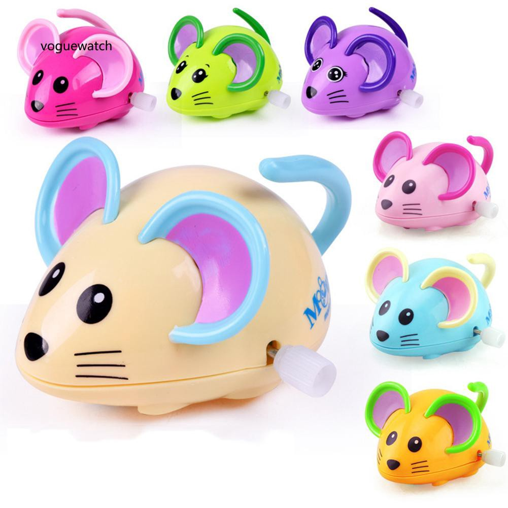 VGWT_Cute Cartoon Animal Rat Wind Up Toy Running Clockwork Mouse Baby Kids Gift