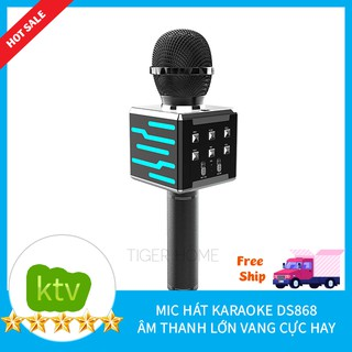 Mic Hát Karaoke DS686 Kết Nối Bluetooth Kết Nối TIvi, Máy Tính, Điện thoại, loa thùng 2 Loa