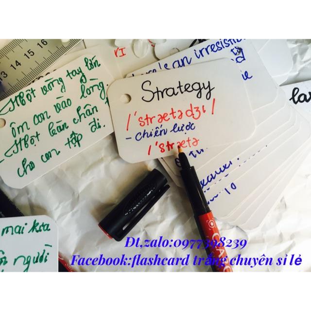 Flashcard thẻ học từ vựng tiếng anh nhật hàn trung cao cấp   Bộ thẻ học tiếng nướ (500 FLA