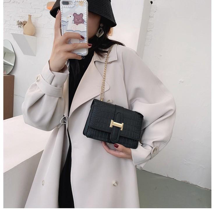 Túi xách nữ, túi đeo chéo vân da cá sấu khóa chữ H trẻ trung thanh lịch TX26  - Chip Xinh