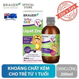 Kẽm Brauer Liquid Zinc cho trẻ từ 1 tuổi trở lên