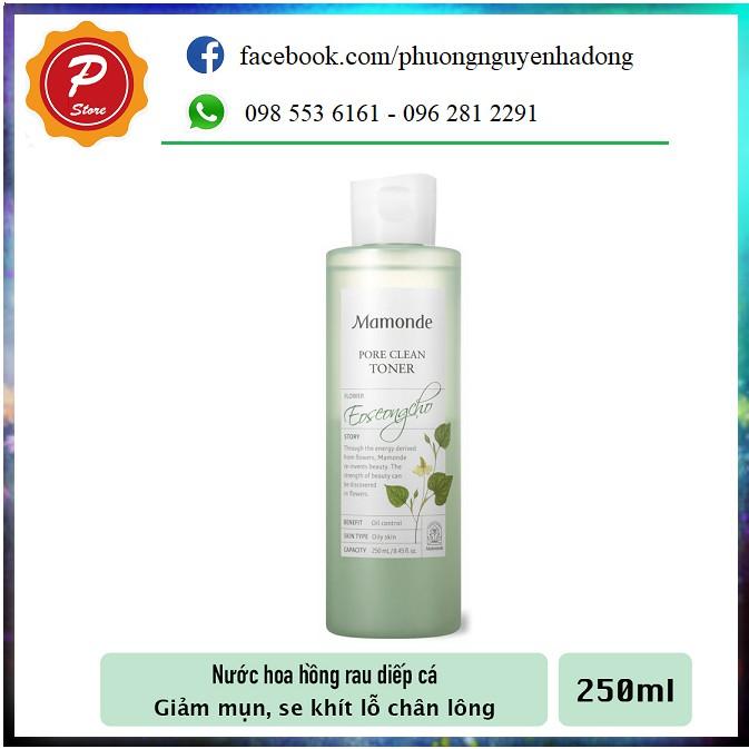 Nước Hoa Hồng Giúp Chăm Sóc & Se Khít Lỗ Chân Lông Mamonde Pore Clean Toner 250ml [Da Dầu, Da Hỗn Hợp]