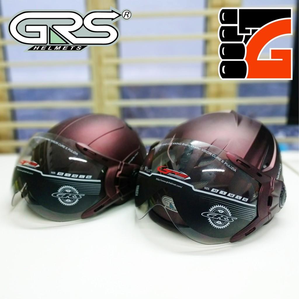 Mũ bảo hiểm nửa đầu GRS bán theo cặp A102K và A760K
