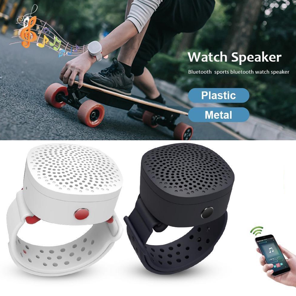 Watch-style Stereo USB Wearable Wrist Smart Mini Bracelet Music Player Wireless Portable Bluetooth Speaker