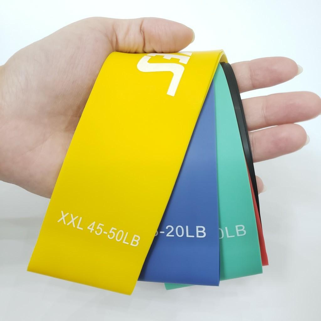 Dây miniband cao su kháng lực-dây tập mông đùi Aolikes- bộ 6 dây giá cực shock