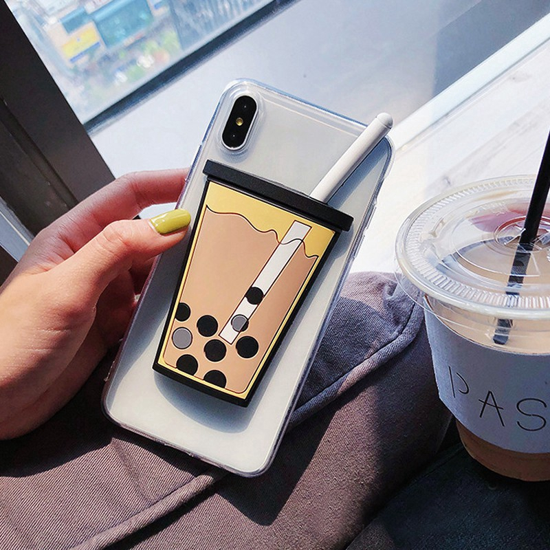 VIVO X27 PRO IQOO NEO Y7S  V17PRO Y21/Y22 X6 X6MAX/x6plus Case milk tea Clear Soft TPU Back Cover