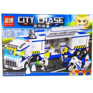 Bộ Lego Xếp Hình Ninjago City Xe Container Cảnh Sát. Gồm 388 chi tiết. Lego Ninjago Lắp Ráp Đồ Chơi Cho Bé