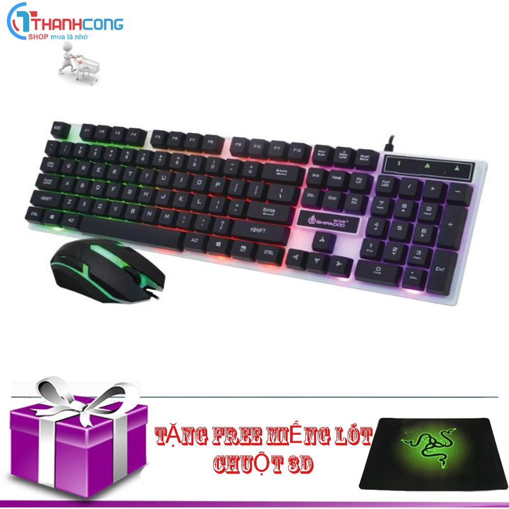 Bộ bàn phím và chuột có dây led chuyên game GT led đa màu(đen) (tặng lot chuột)