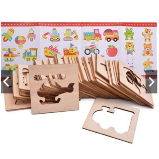 khuôn vẽ tranh bằng gỗ cho bé
